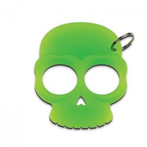 Plastic Skull Glow In The Dark Keychain Green